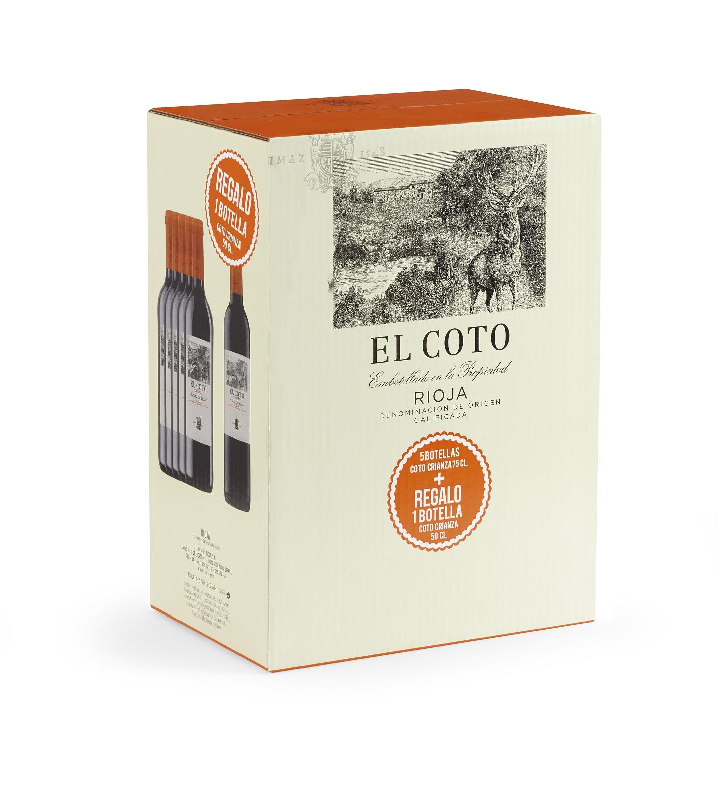 EL COTO CRIANZA PACK 5 BOTELLAS + 1 BOTELLA 0,50 REGALO